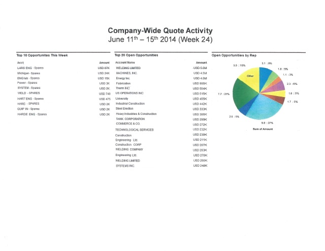 Salesforce Sample Report with Graph