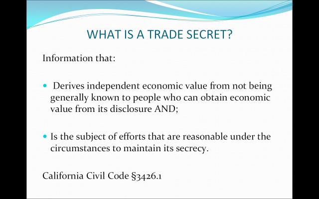 Trade Secrets Defined